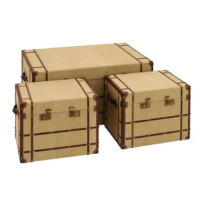 Woodland Imports Travel Trunk (Set of 2)