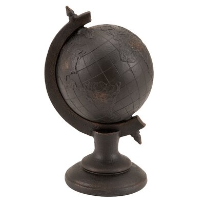 Woodland Imports Library Polystone Globe Decor