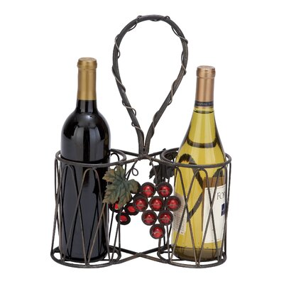 Woodland Imports 2 Bottle Tabletop Wine Rack
