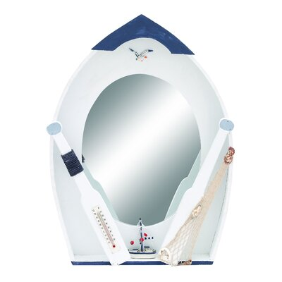Woodland Imports Seaside Nautical Row Boat Mirror Décor