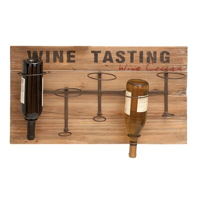 Woodland Imports 5 Bottle Wall Mounted Wine Rack