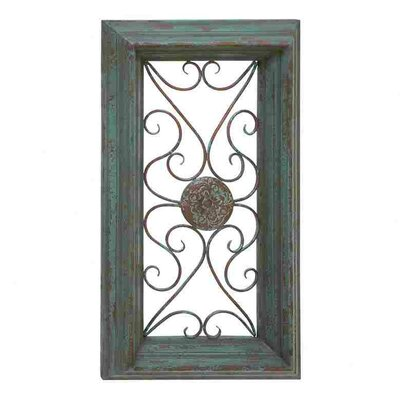Woodland Imports Wood Metal Panel Wall Decor