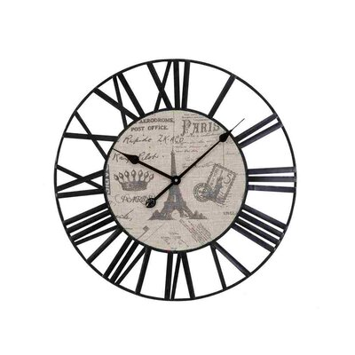 Woodland Imports Roman Metal Wall Clock