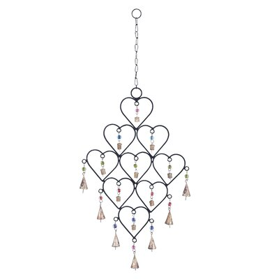 Metal Heart Wind Chime