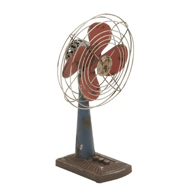 Woodland Imports Metal Decor Fan Statue