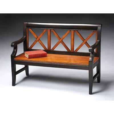 Transitional Cherry Veneer Bench