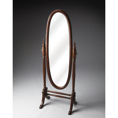 Butler Plantation Cheval Mirror in Distressed Cherry