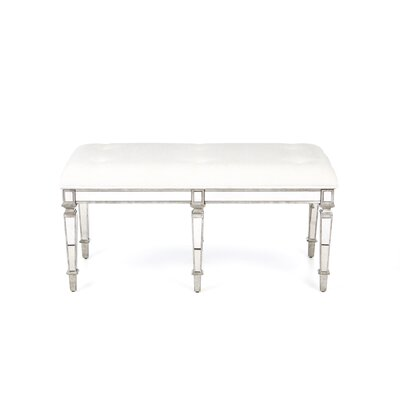 Butler Masterpiece Tufted Cotton Wooden Entryway Bench