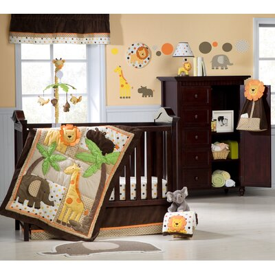 Kids Line Sunny Safari Crib Bedding Collection