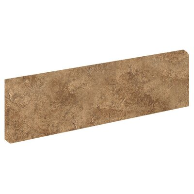 "Florim USA Copper Ridge 3"" x 12"" Bullnose in Jasper Tan"