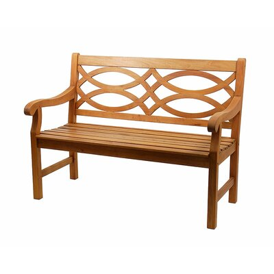 ACHLA Hennell Eucalyptus Garden Bench with Coffee Table