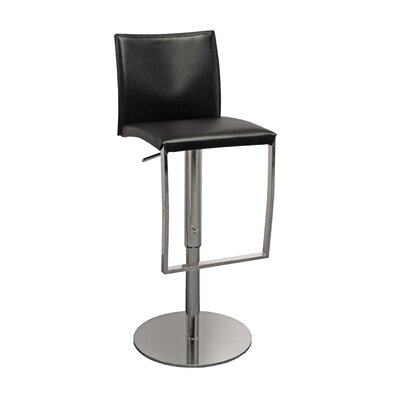 Furniture Resources Reflex Leather and Chrome Armless Bar Stool