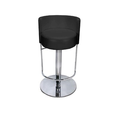 Reflex Vinyl and Chrome Round-Back Bar Stool