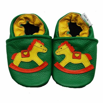 Rocking Horse Soft Sole Leather Baby Shoes