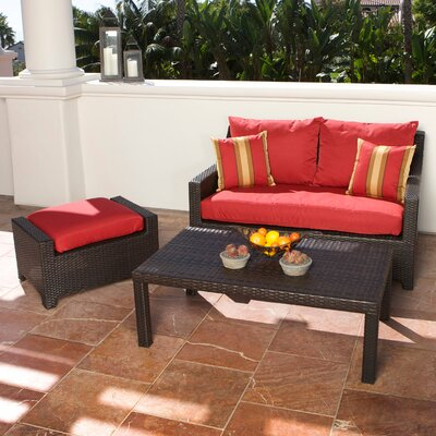 RST Outdoor Cantina 3 Piece Deep Seating Group with Cushions