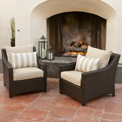 Slate Club Chair with Cushions (Set of 2)
