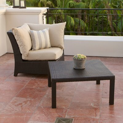 RST Outdoor Slate Deep Seeting Corner Chair with Cushions and Coffee Table