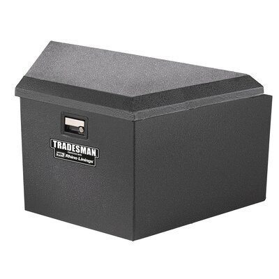 Tradesman Rhino Lined Trailer Tongue Box with Aluminum Lid