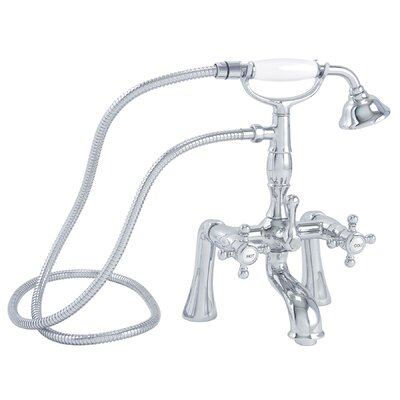 California Faucets Balboa Double Handle Deck Mount Tub/Shower Set with Telephone Spray