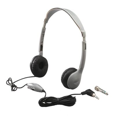 Hamilton Electronics Leatherette Ear Cushioned Personal Educational Headphone with Volume Control