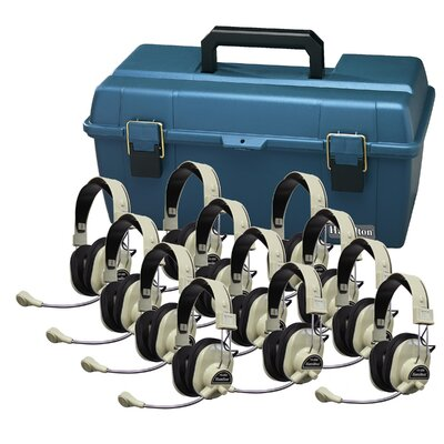 Hamilton Electronics Deluxe Headphones Val-U-Pack with Microphone (Pack of 12)