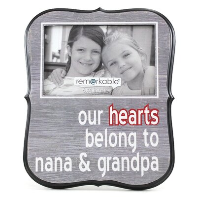 Expressions Our Hearts Belong to Nana and Grandpa Photo Frame