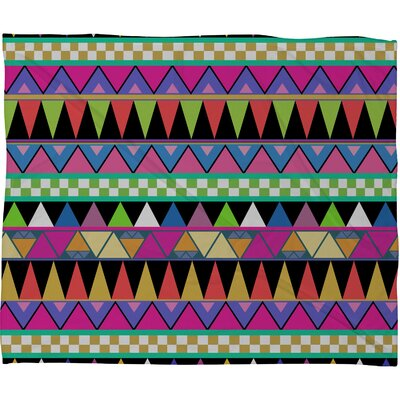 DENY Designs Bianca Green Zigzag Fleece Throw Blanket
