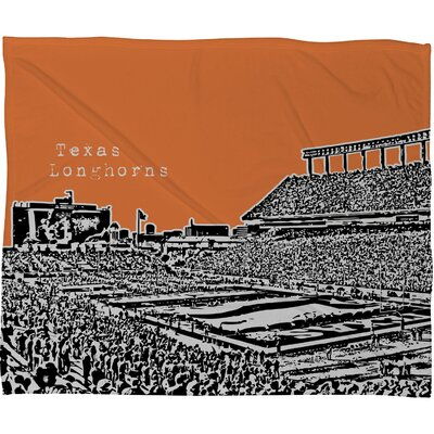 DENY Designs Bird Ave Texas Longhorns Fleece Throw Blanket