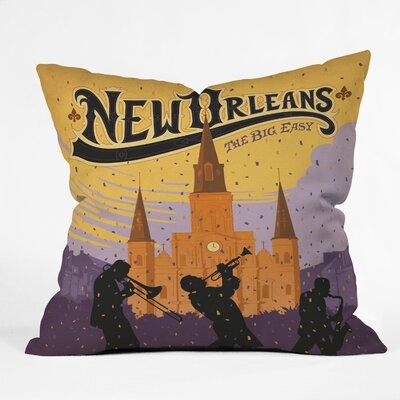 DENY Designs Anderson Design Group Polyester New Orleans 1 Indoor/Outdoor Throw Pillow