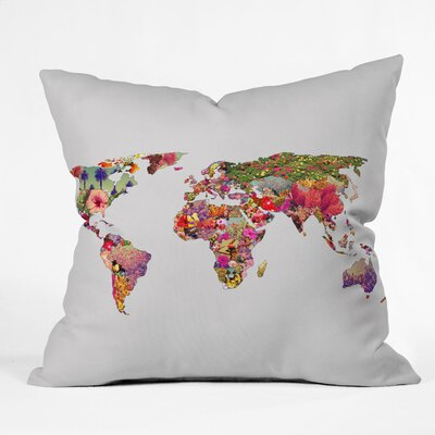 DENY Designs Bianca Green Its Your World Indoor/Outdoor Polyester Throw Pillow