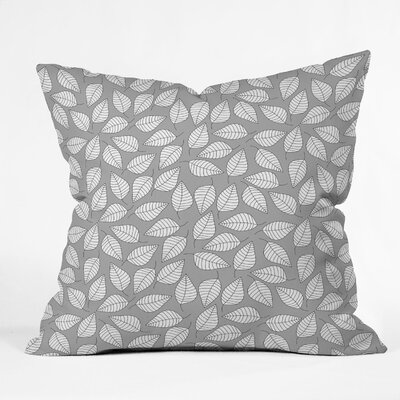 DENY Designs Bianca Green Leafy Throw Pillow