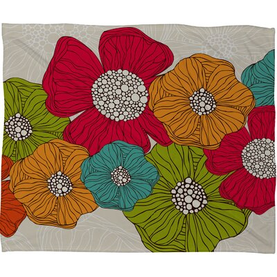 DENY Designs Valentina Ramos Flowers Fleece Throw Blanket
