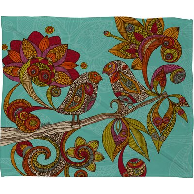 DENY Designs Valentina Ramos Hello Birds Fleece Throw Blanket