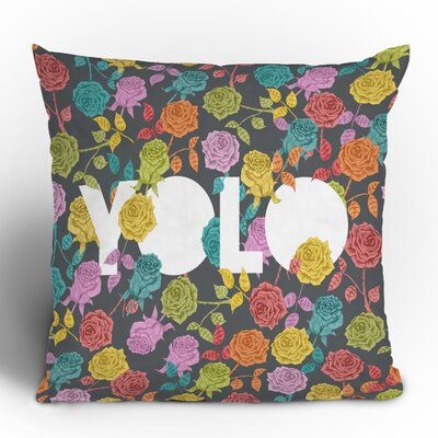 DENY Designs Bianca Green Yolo Woven Polyester Throw Pillow