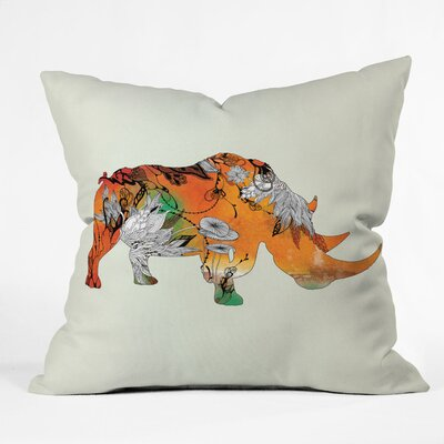 DENY Designs Iveta Abolina Rhino Indoor / Outdoor Polyester Throw Pillow