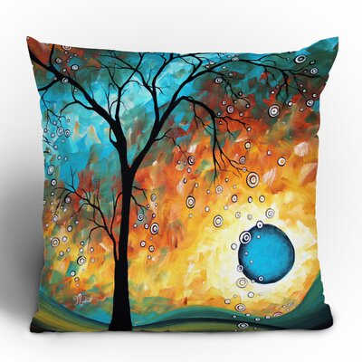 DENY Designs Madart Inc. Aqua Burn Throw Pillow