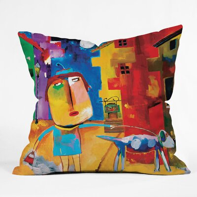 DENY Designs Robin Faye Gates Polyester Sylvia Needs Eggs Indoor/Outdoor Throw Pillow