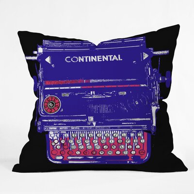 DENY Designs Romi Vega Polyester Continental Typewriter Indoor / Outdoor Throw Pillow