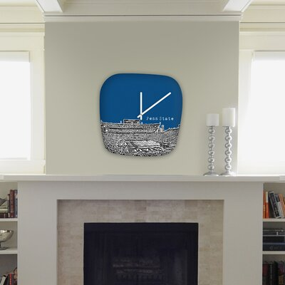 DENY Designs Bird Ave Penn State University Modern Clock