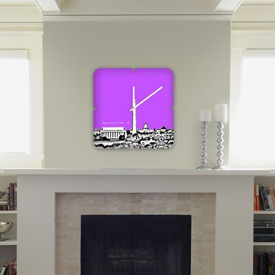 DENY Designs Bird Ave Washington Custom Clock
