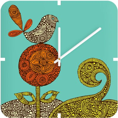 DENY Designs Valentina Ramos Bird in The Flower Custom Clock