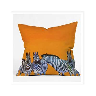 DENY Designs Clara Nilles Candy Stripe Zebras Throw Pillow