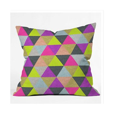 DENY Designs Bianca Green Ocean of Pyramid Throw Pillow