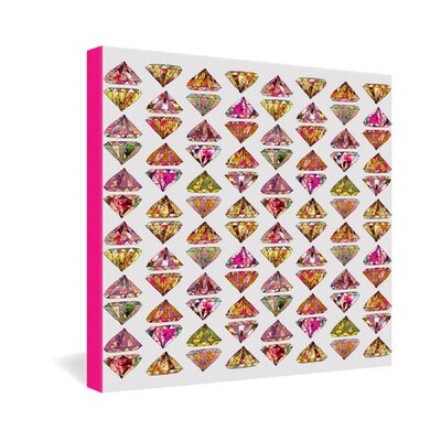 DENY Designs Bianca Green These Diamonds Are Forever Gallery Wrapped Canvas