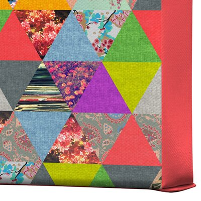 DENY Designs Bianca Green Lost In Pyramid Gallery Wrapped Canvas