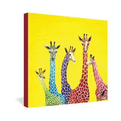 Clara Nilles Jellybean Giraffes Gallery Wrapped Canvas