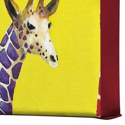 DENY Designs Clara Nilles Jellybean Giraffes Gallery Wrapped Canvas
