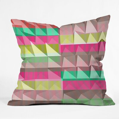 DENY Designs Jacqueline Maldonado Pyramid Scheme Indoor / Outdoor Polyester Throw Pillow