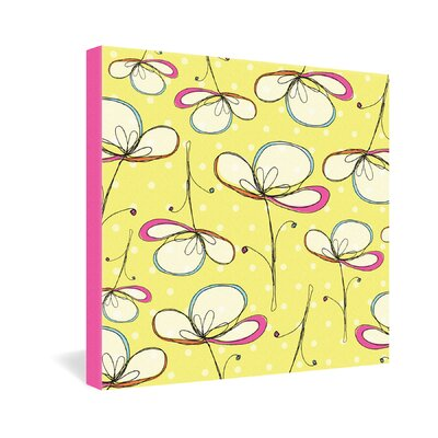 DENY Designs Rachael Taylor Floral Umbrellas Gallery Wrapped Canvas