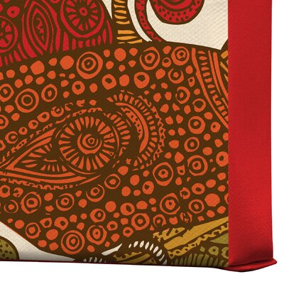 DENY Designs Valentina Ramos The Orange Bird Gallery Wrapped Canvas